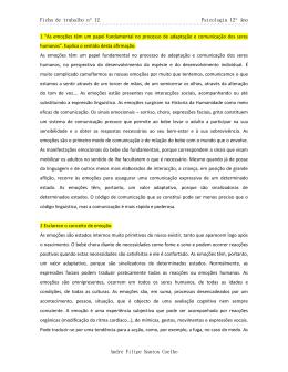 Ficha de trabalho nº12 - Portefólio de Psicologia B
