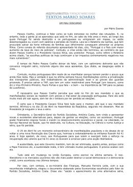Um mau discurso - Fundação Mário Soares