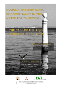 Looking for evidences of governance in the water policy sector