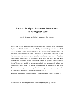 Students in Higher Education Governance: The Portuguese