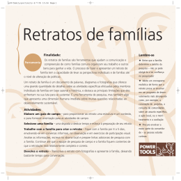 Retratos de famílias - Power Tools: for policy influence in natural