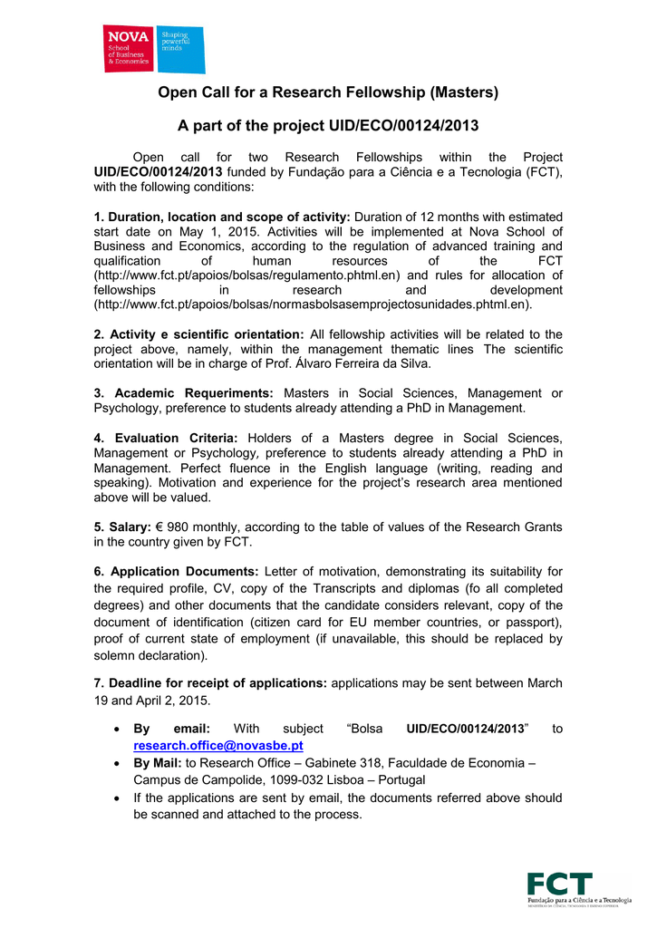 7682378d5 Open Call for a Research Fellowship (Masters) A part of the project