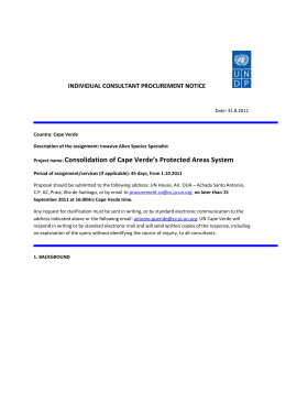 IC Procurement Notice - United Nations in Cape Verde