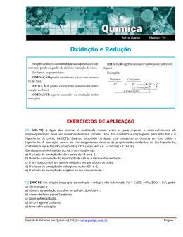 Oxidação e Redução - Portal de Estudos em Química