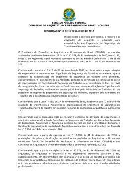 Resolução CAU/BR Nº 10