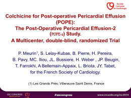 POPE - European Society of Cardiology