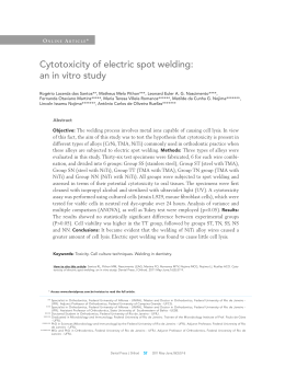 Cytotoxicity of electric spot welding: an in vitro study