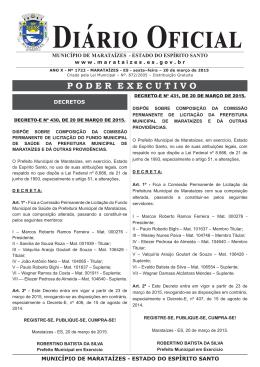 diário oficial - Prefeitura Municipal de Marataízes