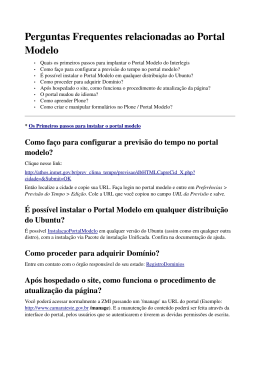 FAQ do Portal modelo 2.0 - FTP