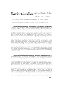 Biomonitoring of benthic macroinvertebrates in the middle Doce