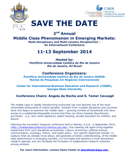 2014 Save the Date! - Middle Class Conference