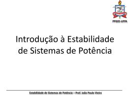 Capítulo 2 - Estabilidade de Sistemas Elétricos de Potência