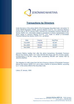 Transactions by Directors