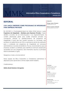 EDITORIAL - Mattos Muriel Kestener Advogados