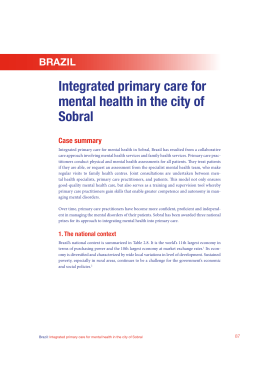 Integrated primary care for mental health in the city of Sobral