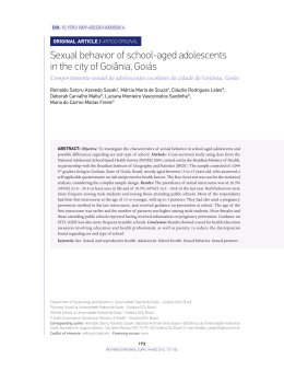 Sexual behavior of school-aged adolescents in the city of