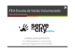 Serve the City Lisboa