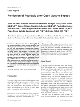 Remission of Psoriasis after Open Gastric Bypass