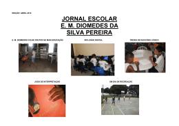 JORNAL ESCOLAR E. M. DIOMEDES DA SILVA PEREIRA