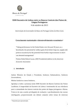 Intervenção do Governador Carlos da Silva Costa no XXIII Encontro