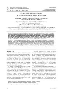 Vernonia tweediana - Latin American Journal of Pharmacy