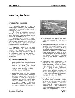 navegação área - Academia do Ar
