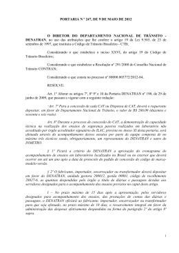 (PORTARIA Nº 247 - Altera Portaria DENATRAN nº 190-2009