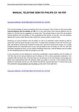 manual telefone philips cd140 em portugues pdf rh livrozilla com  manual telefono philips cd140