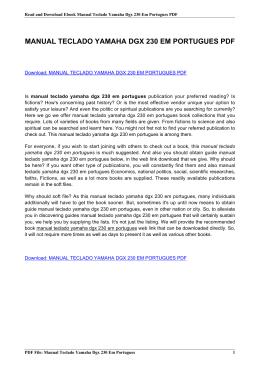manual teclado yamaha dgx 230 em portugues pdf