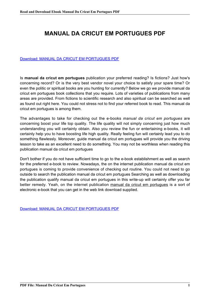 manual da cricut em portugues pdf rh livrozilla com Cricut Expression Manual manual cricut expression 2 portugues