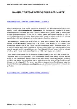 manual telefone philips cd140 em portugues pdf rh livrozilla com Philips Universal Remote Code Manual Philips Schematics