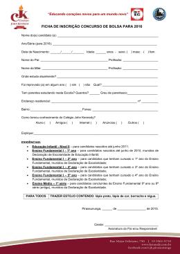 Ficha de inscriçãO – PDF
