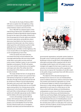 cEntER FOR thE StuDY OF VIOLEncE – nEV