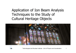 Application of Ion Beam Analysis Techniques to the Study of