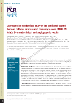 A prospective randomised study of the paclitaxel-coated