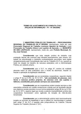 TERMO DE AJUSTAMENTO DE CONDUTA (TAC)