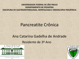Pancreatite Crônica - The Eletronic Journal of Pediatric