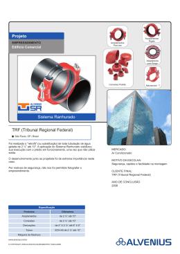 Projeto TRF (Tribunal Regional Federal) Sistema Ranhurado
