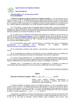 Consulta Pública nº 11/2011