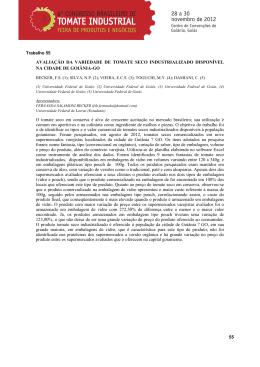6º Congresso Brasileiro de Tomate Industrial e Feira de Produtos e