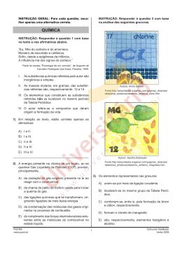 Prova de Química
