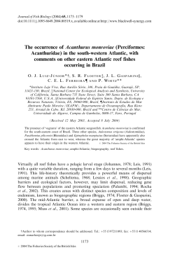 The occurrence of Acanthurus monroviae