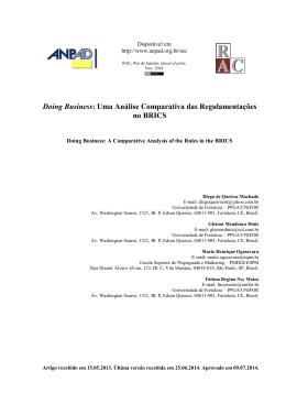 Uma Análise Comparativa das Regulamentações no BRICS