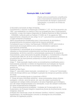 Resolução SMA 5/07