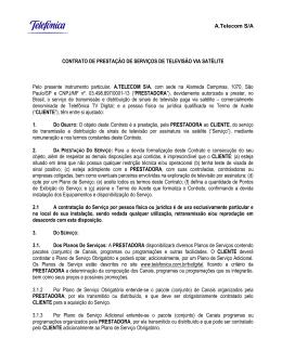 A.Telecom S/A CONTRATO DE PRESTAÇÃO DE