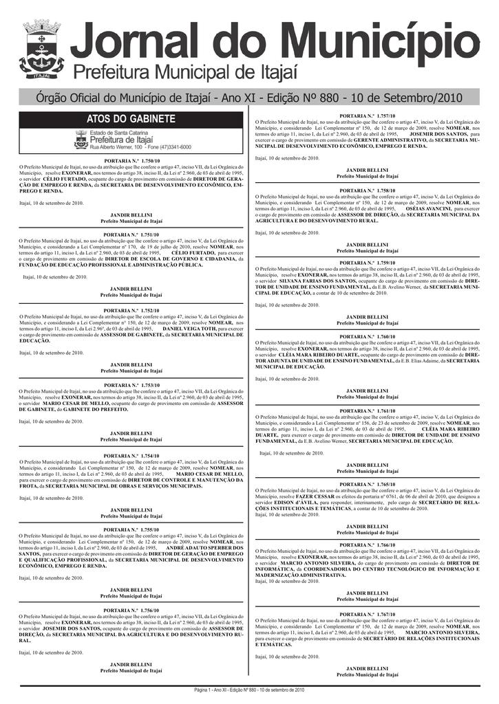 Jornal do Município Prefeitura de Itajaí 06a2622e1fa