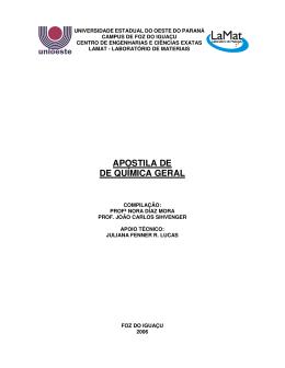 APOSTILA DE DE QUÍMICA GERAL