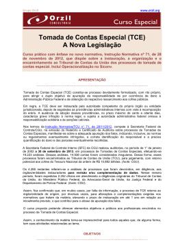 Tomada de Contas Especial (TCE)