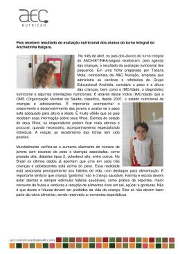 Pais recebem resultado de avaliação nutricional dos alunos do