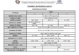 TURNO INTEGRAL/2015